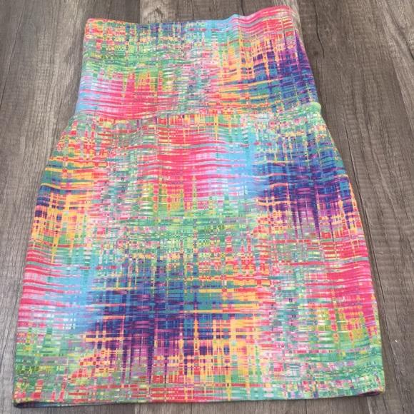 44c26e80db58 Nollie Skirts | Rainbow Bodycon Mini | Poshmark